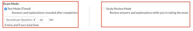 Select Exam Mode
